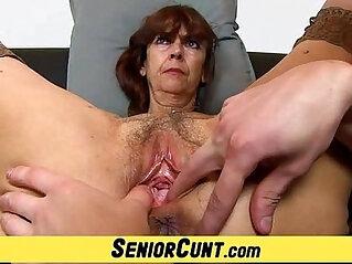 6:27 - Grandma Lada a zoomed old hairy vagina fingering -