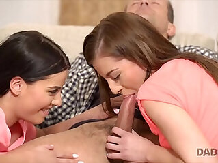 8:29 - Moms two daughters getting naughty in her property -
