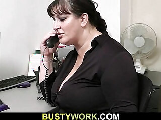 7:23 - Busty bitch gets slammed at workplace -