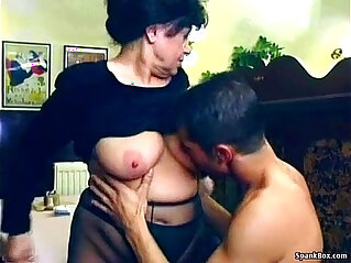 7:45 - Sexy granny fucked in restaurant -