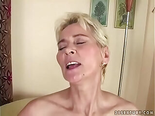 7:19 - Grandma cums on young dick -