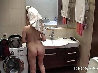 8:29 - Sexy Rebecca Hidden spy camera in bathroom -
