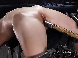 5:10 - Babe in back bend position cunt toyed -