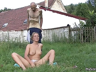 6:30 - He finds his father in law licks her young pussy -