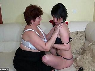 10:38 - Oldnanny old fat grannies masturbating and enjoying with young girl -