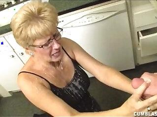 4:27 - Short Haired Grandma Gets A Big Facial -