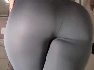 14:44 - Spicy J yoga pants tear dildo ride -