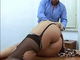 22:02 - Amazing mature blonde abused in a job interview -