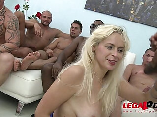 1:27 - Vittoria Dolce savage gangbang, she cant hold back her screams! -