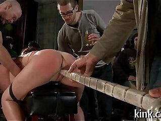 5:42 - Breasty prisoner used as sex bondman -