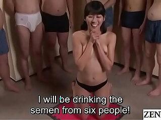 3:38 - JAV cum drinking gokkun blowjob party Misaki Oishi Subtitled -