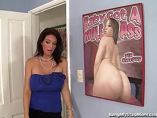 6:29 - Busty stepmom rides her stepsons big dick -