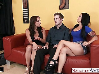 9:26 - Gorgeous brunettes Katrina Jade and Kayla West share cock -