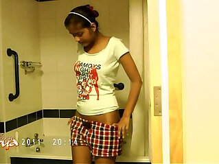 2:24 - indian pornstar divya stripping naked exposing her bigtits in shower -