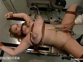 6:04 - Busty amateur blonde babe gets treatment in gynecological chair -