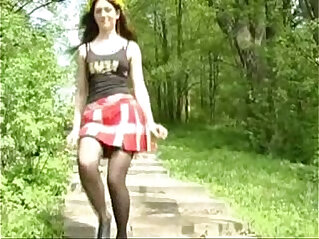 3:36 - Horny girl pissing in the forest -