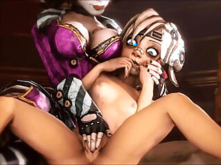 5:44 - Borderlands Moxxis Bar Girls Compilation -