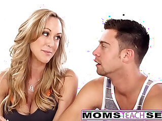 12:42 - MomsTeachSex Hot Yoga Mom Fucks Son And Teen GF -