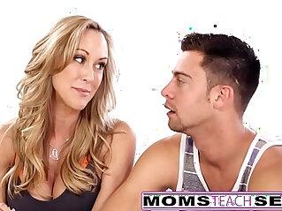 12:42 - MomsTeachSex Hot Yoga Mom Fucks Son And Teen GF -