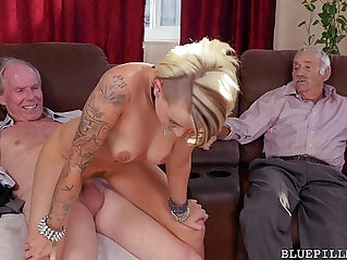 4:39 - Young Girl Gets Backstage Pass from Horny Old Blue Pill Men -