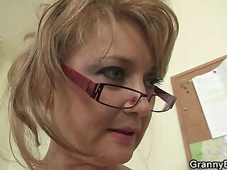 6:45 - Hot office with old mature bitch -