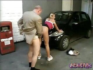22:53 - Dad fucked hot daughter in garage -
