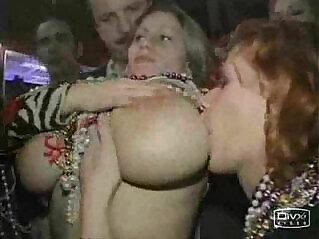 1:09 - Busty hot girl boobs at Mardi Gras -