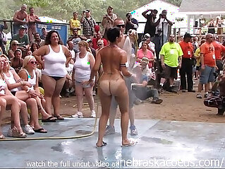 18:16 - amateur nude contest at this years nudes a poppin festival in indiana -