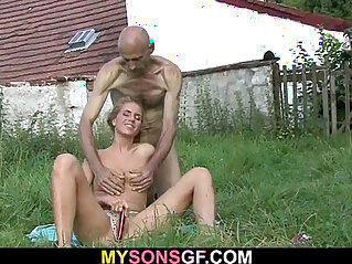 7:42 - Guy sees her naked with his old dad -