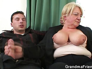 6:58 - Threesome orgy session with granny -