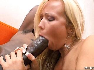 7:18 - Blonde MILF Black monster Cock -