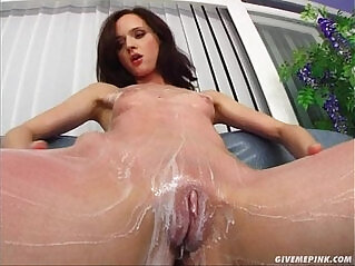 39:00 - Give Me Pink Teen pussy fingers her supple ass on camera -