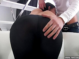 34:07 - BUTT PORN video WITH A SEXY RUSSIAN TEEN TIGHT LEGGINGS -