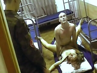 57:47 - Whore in russian army. -