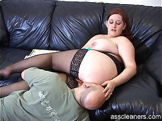 2:24 - Big titted mistress lets man lick pussy before her ass hole -