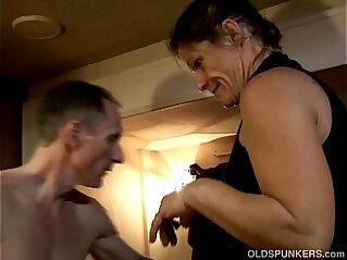 22:41 - Skanky old spunker enjoys a sticky facial cumshot -