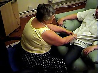 5:30 - Grandma libby from gives a hot blowjob and footjob -