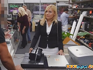 7:49 - Sexually harassed milf got fired and goes to a pawn shop to sell some stuff -