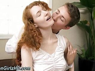 8:21 - Teen mormon bends over -