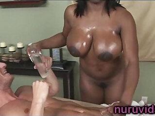 5:55 - Busty ebony Jada Fire gives awesome cock massage -