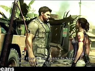 Sheva Alomar x Chris Redfield XXX Welcome To Africa Parody