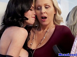 8:50 - Classy mature les fingering her wet pussy and ass -