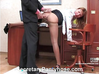 11:45 - Sexy secretary in pantyhose -
