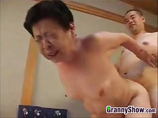 4:01 - Japanese Grandma Giving A Great Blowjob -