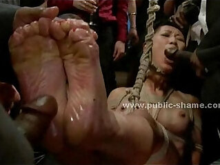 4:35 - Asian sex slave used as fucking toy -