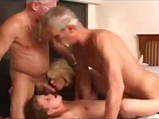 16:12 - Granny wife and a young chick in a foursome -