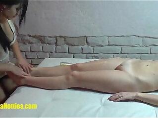 13:48 - Lesbian massage by two 19yo czech amateur hotties -