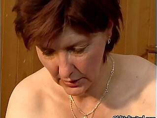 5:46 - Dirty mature woman going crazy getting -