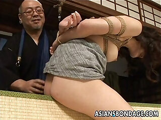 8:52 - Tied up Asian babe gets spanked and dildo fucked -