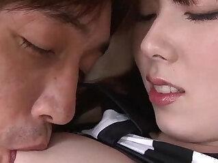 5:01 - Huge ball shaped vibrator with nubs is used on Ramu Nagatsuki -
